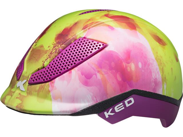 KED Pina Helmet Kinder green flower